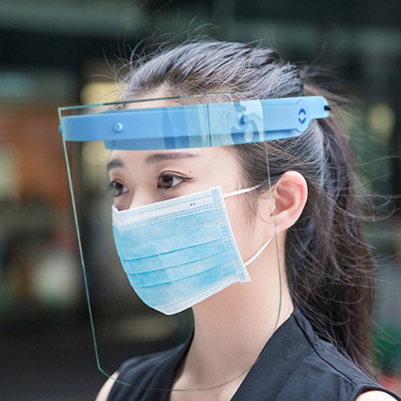 Lightweight anti-fog adjustable face shield