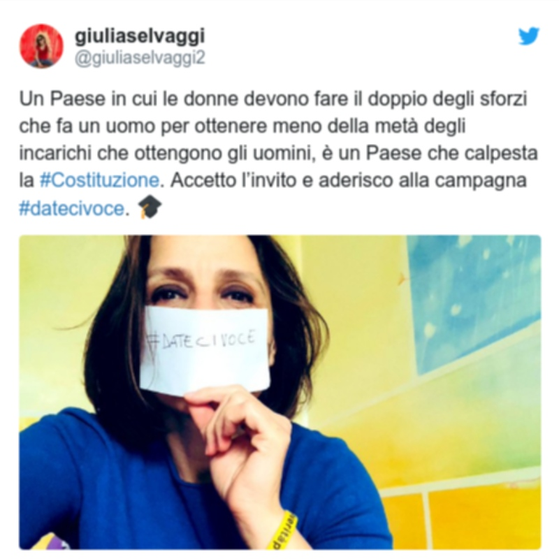Dateci Voce: Italian women demand voice in Covid-19 fight
