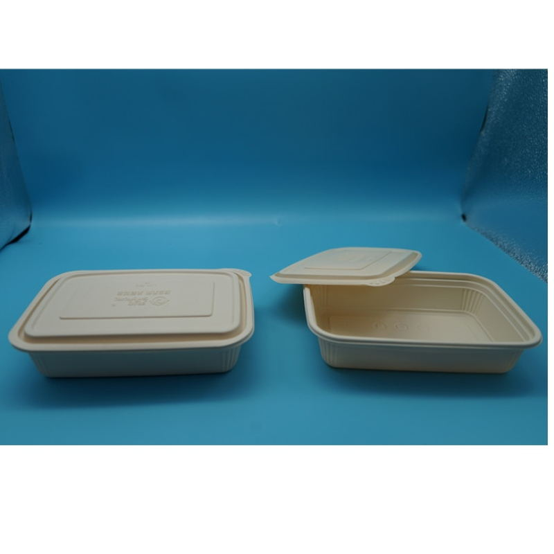 disposable airtight microwavable refrigerable compartment takeaway biodegradable corn starch food containers